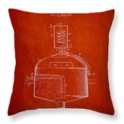 1944 Art Of Brewing Beer Patent - Red Throw Pillow