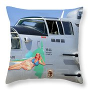1944 Maid In The Shade  Throw Pillow