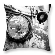 1946 Chevy Work Truck - Headlight Detail Throw Pillow