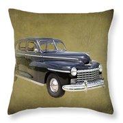 1946 Dodge D24c Sedan Throw Pillow