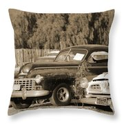 1946 Dodge In Sepia Throw Pillow