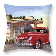 1946 Ford Deluxe Coupe Throw Pillow