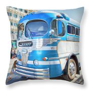1946 Greyhound Throw Pillow