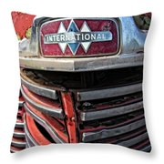 1946 International Harvester Truck Grill Throw Pillow by Daniel Hagerman