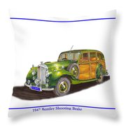 1947 Bentley Shooting Brake Throw Pillow