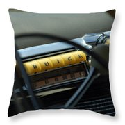 1947 Buick Super Radio Throw Pillow