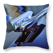1947 Cadillac 62 Convertible Hood Ornament Throw Pillow