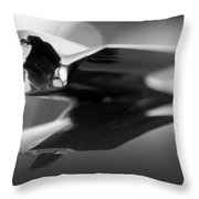 1947 Cadillac Hood Ornament 2 Throw Pillow