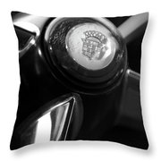 1947 Cadillac Steering Wheel Throw Pillow