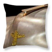 1947 Chrysler Hood Ornament Throw Pillow by Jill Reger