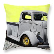 1947 Ford Cab Over Engine Truck Throw Pillow