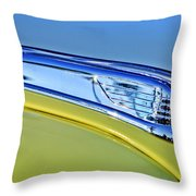 1947 Ford Super Deluxe Hood Ornament 2 Throw Pillow