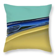 1947 Ford Super Deluxe Hood Ornament Throw Pillow