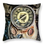 1947 Knucklehead Speedometer Throw Pillow