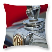 1947 Mg Tc Non-standard Hood Ornament Throw Pillow