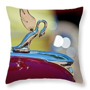1947 Packard Coupe Hood Ornament Throw Pillow