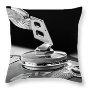 1948 Bentley Hood Ornament 3 Throw Pillow
