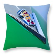 1948 Cadillac Emblem Throw Pillow
