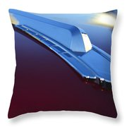 1948 Chevrolet Pickup Hood Ornament Throw Pillow