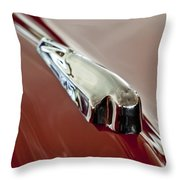 1948 Crosley Convertible Hood Ornament Throw Pillow