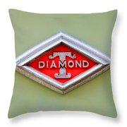 1948 Diamond T Emblem -ck0879c Throw Pillow