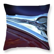 1948 Dodge Ram Hood Ornament Throw Pillow