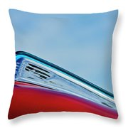 1948 Ford Coupe Sedan Hood Ornament Throw Pillow