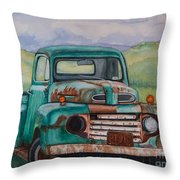 1948 Ford Pickup Rusty Gem  Throw Pillow