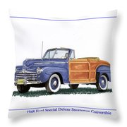 1948 Ford Sportsman Convertible Throw Pillow