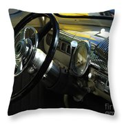 1948 Ford Super Deluxe Dash Throw Pillow