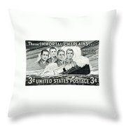 1948 Immortal Chaplains Stamp Throw Pillow