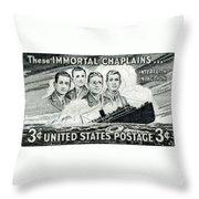 1948 Immortal Chaplains Stamp Throw Pillow