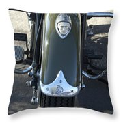 1948 Indian Chief Motorcycle Hood Ornament Throw Pillow