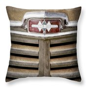 1948 International Hood Emblem -0227ac Throw Pillow