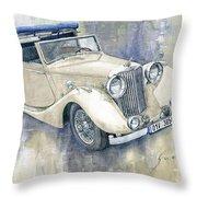 1948 Jaguar Mark Iv Dhc Throw Pillow