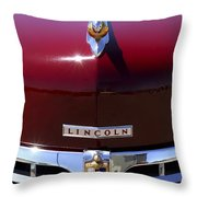 1948 Lincoln Continental Hood Ornament 3 Throw Pillow