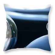 1948 Mg Tc Head Light Throw Pillow