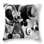 1948 Mg Tc Key Ring Black And White Throw Pillow