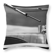 1948 Mg Tc Rear View Mirror Black And White Throw Pillow
