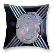 1948 Mg Tc Steering Wheel 2 Throw Pillow