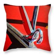 1948 Packard Hood Ornament 2 Throw Pillow