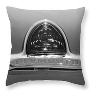 1948 Plymouth Coupe Emblem -0190bw Throw Pillow