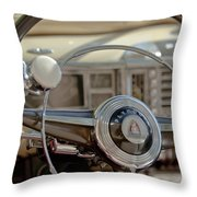 1948 Plymouth Deluxe Steering Wheel Throw Pillow