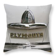 1948 Plymouth Hood Logo Throw Pillow