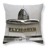 1948 Plymouth Hood Logo Throw Pillow