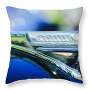 1948 Plymouth Hood Ornament Throw Pillow
