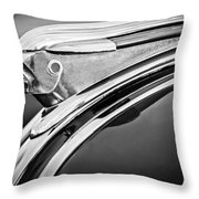 1948 Pontiac Chief Hood Ornament 2 Throw Pillow by Jill Reger