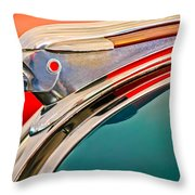 1948 Pontiac Chief Hood Ornament Throw Pillow by Jill Reger