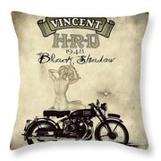 1948 Vincent Black Shadow Throw Pillow