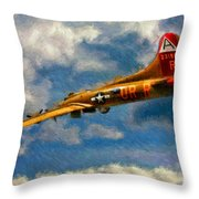 1949 Boeing B-17b Flying Fortress Throw Pillow